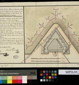 Plan des mines du fort de San Miguel d'Oran