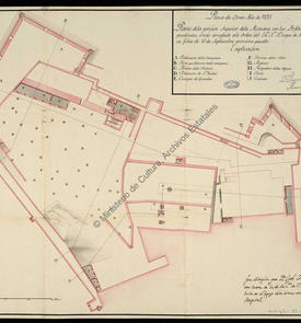 Plan de la partie supérieure de la citadelle d'Oran