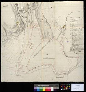 Plan de l'enceinte de la place forte d'Oran et voisinage immédiat