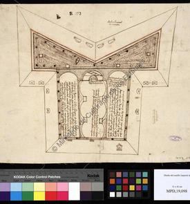 Plan du château impérial en cours de construction, Béjaïa