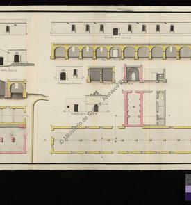 Plan du port de la Marine à Oran avec l'indication des trois nouveaux entrepôts