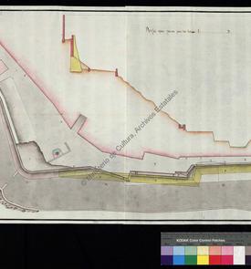 Plan du bastion de la porte de Canastel à Oran jusqu'aux flancs de San Roque