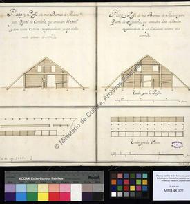 Plans et coupes pour les casernes d'infanterie et de cavalerie d'Oran